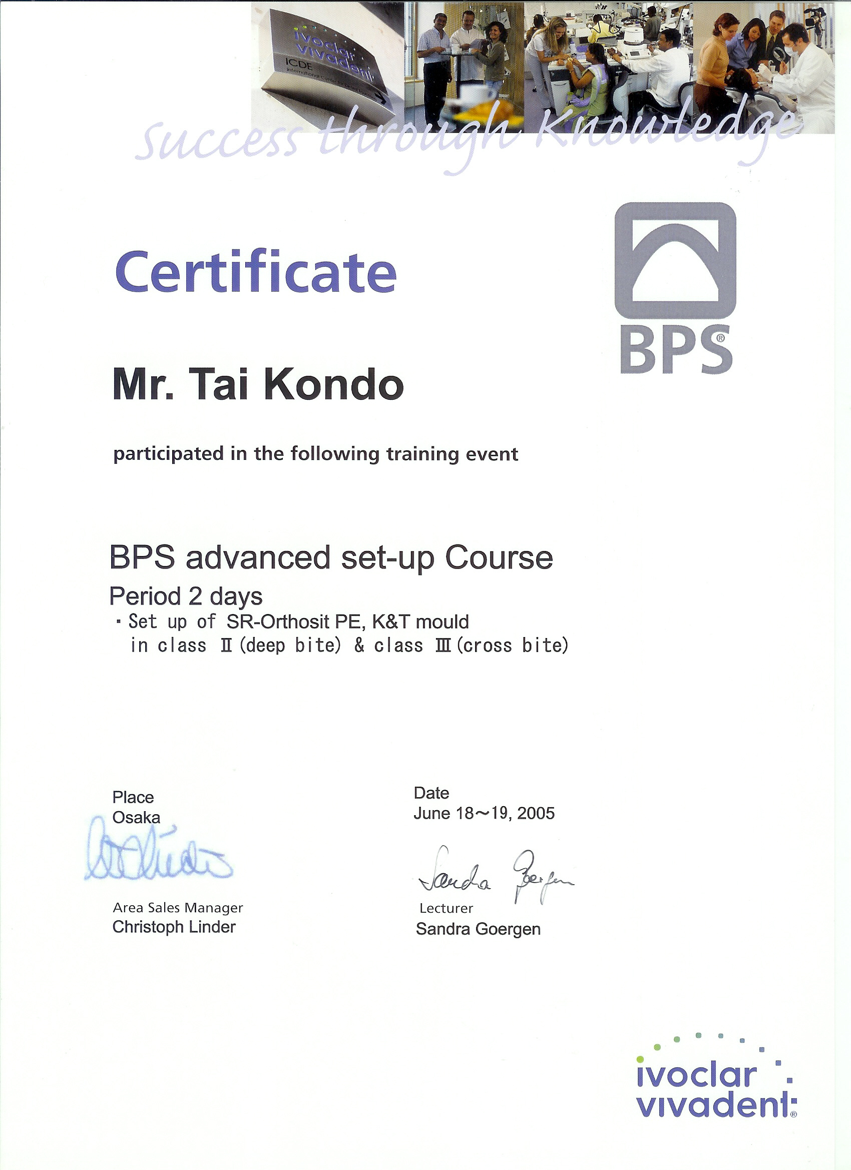 BPS Special advance course